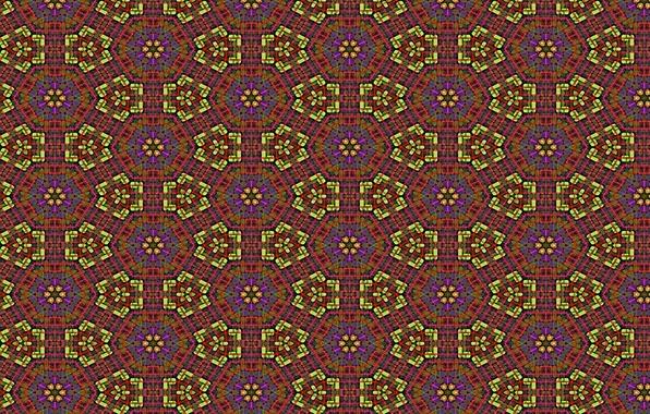 Picture line, flowers, background, Wallpaper, patterns, figure, star, color, texture, ornament, figure, Kaleidoskop