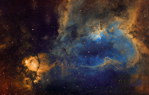 Picture Heart, emission nebula, in the constellation Cassiopeia