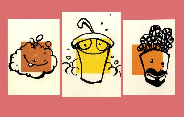 Picture Shake, Aqua Teen Hunger Force, Cup, Fry, Meatball