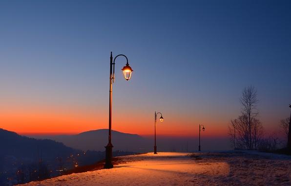 Picture twilight, romania, brasov fortress