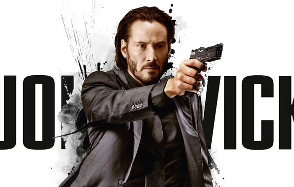 Picture cinema, gun, pistol, hitman, actor, weapon, man, movie, assassin, film, Keanu Reeves, suit, martial artist, …