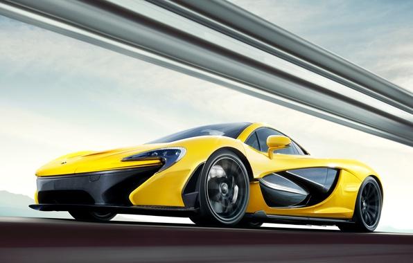 Picture yellow, supercar, Mclaren