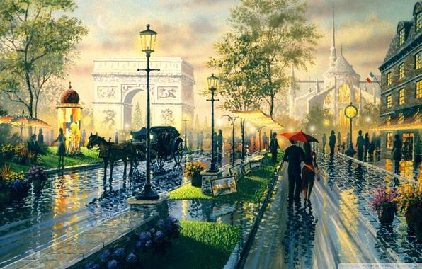 Picture Paris, watch, the evening, lights, pictures, Notre Dame de Paris, Boulevard, Ken Shotwell, Arch, Paris …