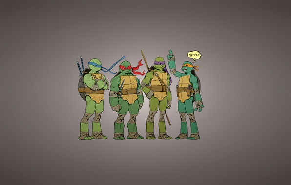 Picture the inscription, Rafael, TMNT, pizza, Raphael, Leonardo, Donatello, Donatello, Leonardo, Michelangelo, Teenage Mutant Ninja Turtles, …