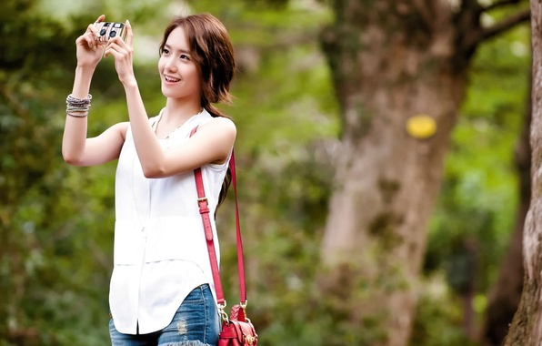Picture Girl, Nature, Music, Asian, Beauty, SNSD, Kpop, Yoona, Outside, Girls' Generation, Korean