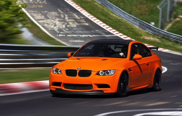 Picture BMW, Orange, BMW, Orange, Track, E92, GTS