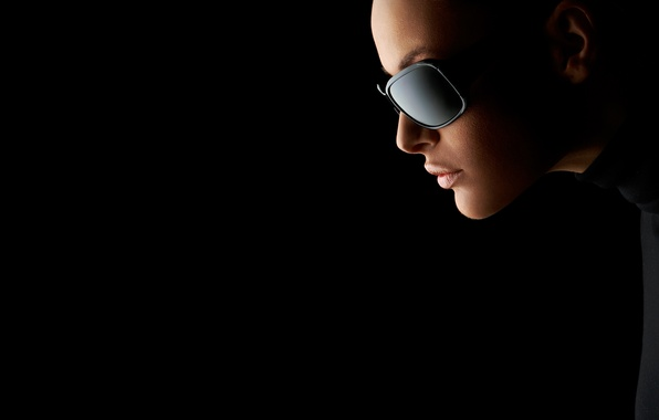 Picture girl, model, lips, red, red, girl, beautiful, looks, beautiful, black glasses, model, lips, looks, face. …