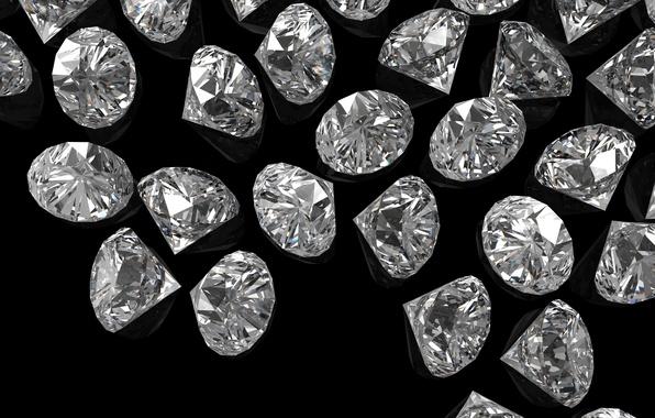 Picture STONES, PEBBLES, DIAMONDS, THE DARK BACKGROUND, DARK BACKGROUND, DIAMONDS