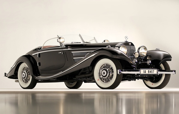 Picture black, cars, Mercedes, 540K, Special Roadster, 1936, classic