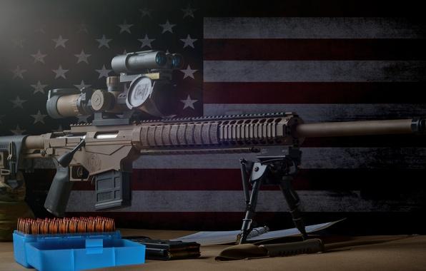Picture background, flag, optics, sniper rifle