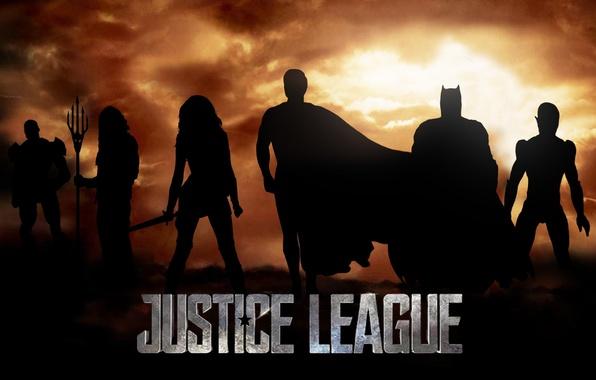 Picture cinema, sword, wall, logo, Wonder Woman, Batman, sky, cloud, movie, ken, blade, Superman, hero, film, ...