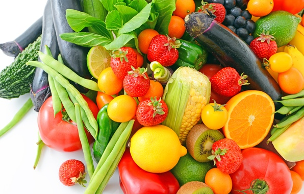 Picture berries, fruit, vegetables, fresh, fruits, berries, vegetables