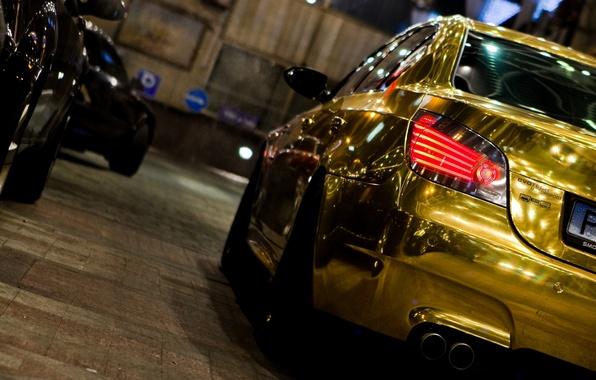Picture bmw, gold, auto
