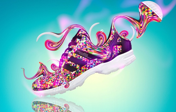 Picture Design, Style, Clothing, Adidas, Fantasy, Photoshop, Style, Plastic, Adidas, Creative, Side, Bright Colors, Shoes, Shoes, …