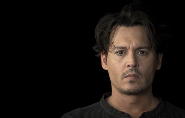 Picture Johnny Depp, actor, Johnny Depp, black background