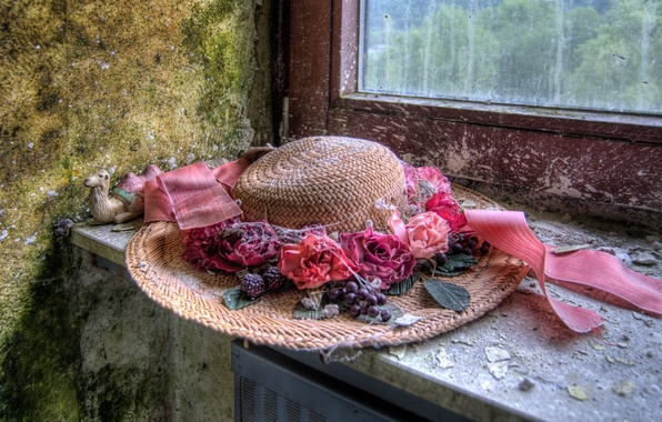 Picture background, window, hat