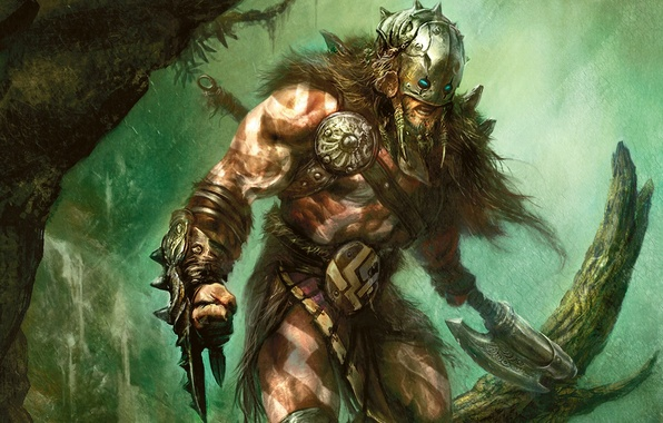 Picture weapons, warrior, fantasy, magic, art, weapons, artwork, the gathering, warrior. figure