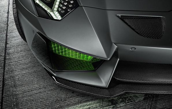 Picture Lamborghini, Green, Front, LP700-4, Aventador, 2014, Limited, HAMANN, Ligth, Bumper