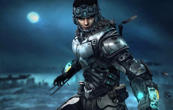 Picture look, soldiers, costume, helmet, armor, chio, ninox