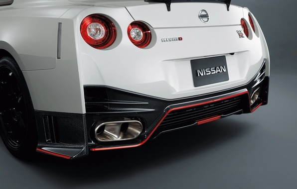 Picture background, Nissan, supercar, Nissan, GT-R, rear view, GT-R, NISMO, NISMO, difuzor