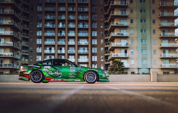 Picture S15, Silvia, Nissan, Formula D Because, streets of Long Beach
