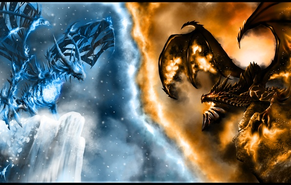 Photo wallpaper dragon, wow, the opposition, Deathwing, world of warcraft, sindragosa, deathwing