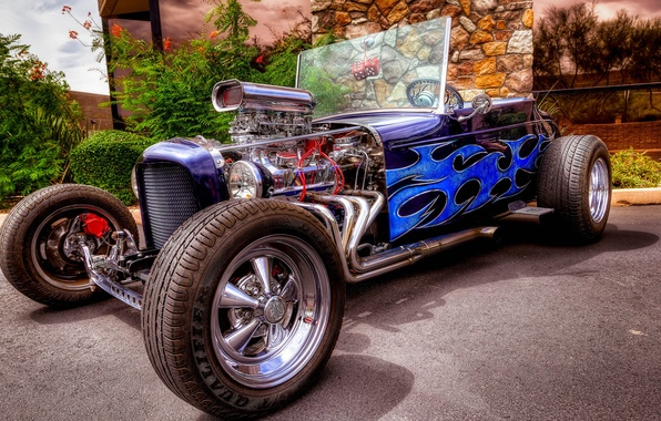 Picture car, Hot Rod, the front, classic