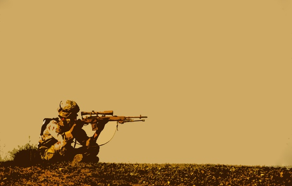 Picture soldiers, sniper, sniper, waiting