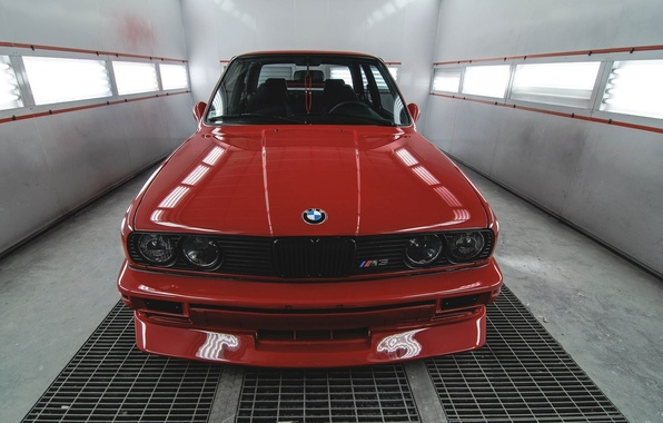Picture red, BMW, BMW, before, red, the front, front, E30, E30