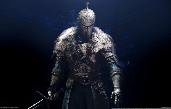 Picture game, armor, background, warrior, knight, Dark Souls 2