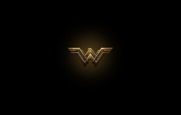 Picture cinema, red, golden, logo, Wonder Woman, black, yellow, movie, letter, hero, Prince, film, DC Comics, …