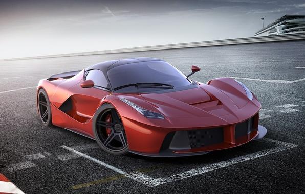 Picture car, machine, auto, Ferrari, Ferrari, supercar, red, supercar, red, racing, avto, LaFerrari, The laferrari