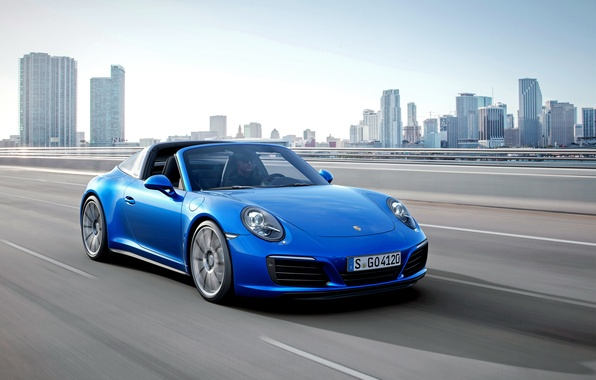 Picture the city, track, 911, Porsche, highway, Porsche, 2015, Targa, Targa 4S