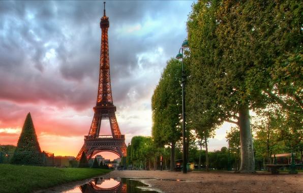 Picture Paris, Paris, night, France, morning, Eiffel Tower, Eyfeleva Tower