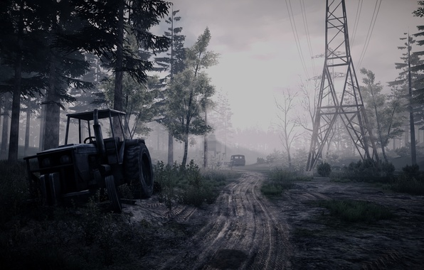 Picture landscape, the game, tractor, 35MM