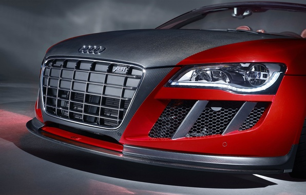 Picture Audi, tuning, headlight, grille, car, ABBOT