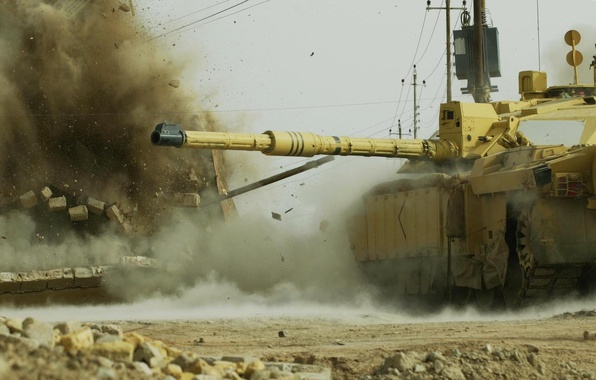 Picture War, The explosion, Tank, Challenger 2