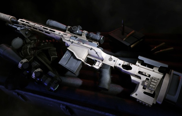 Picture weapons, guns, sight, muffler, sniper rifle, Sniper Ghost Warrior 2, Remington MSR