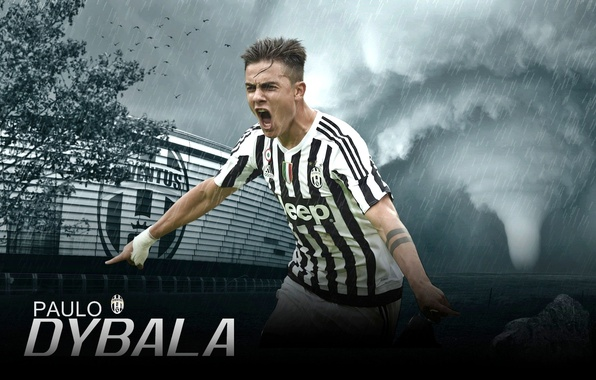 Picture wallpaper, sport, stadium, football, player, Paulo Dybala, Juventus FC, Juventus Stadium