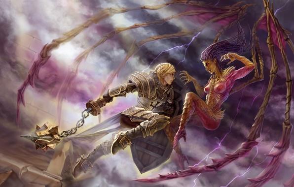 Wallpaper starcraft diablo crusader sarah kerrigan - Heroes of the storm phone wallpaper ...