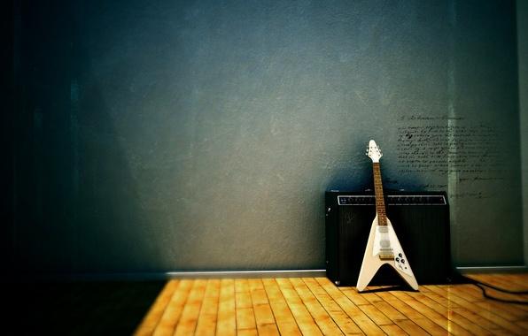 Picture guitar, column, Gibson