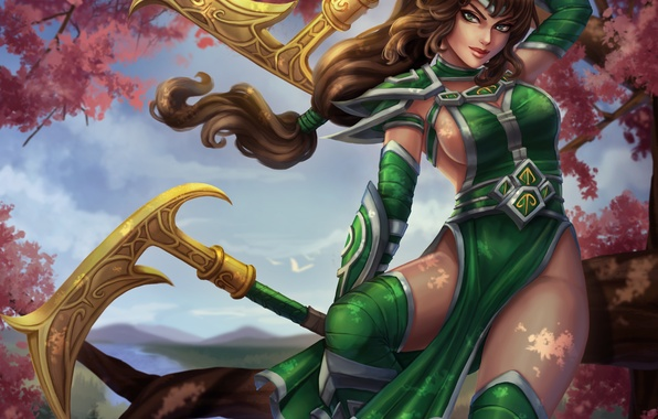 Picture girl, dress, beauty, art, Akali, League of Legends, moba, Fist of Shadow