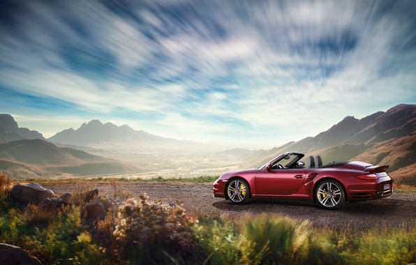 Picture landscape, nature, convertible, Porsche, porsche 911 carrera
