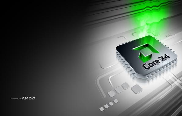 Picture AMD, processor, Core 4X