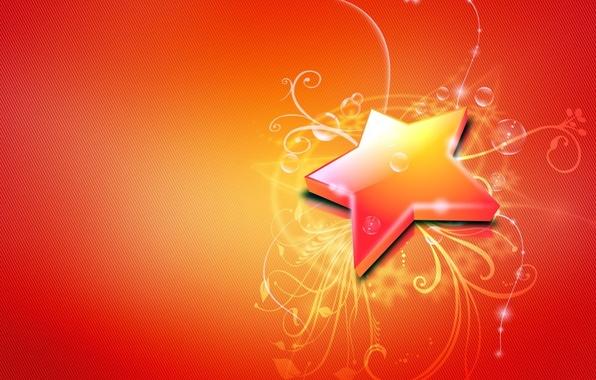 Picture line, bubbles, Star