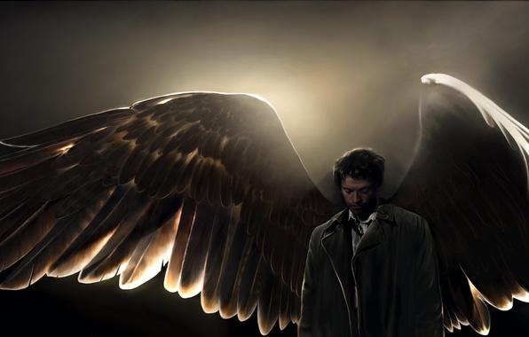 Picture art, angel, supernatural, Castiel, amanda tolleson