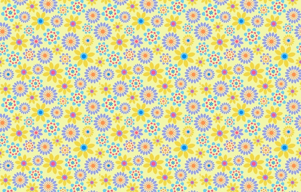 Picture circles, flowers, pattern