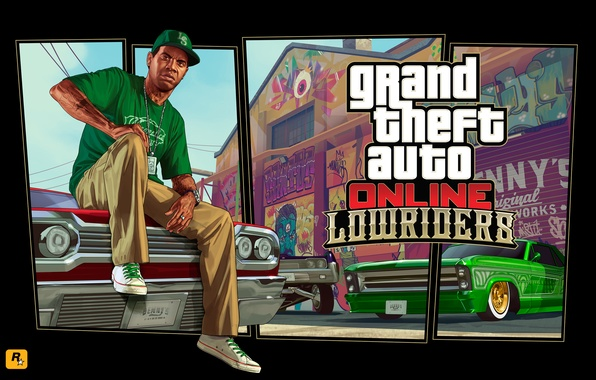 Picture cars, art, cars, Grand Theft Auto V, lowrider, grand theft auto online, Lamar