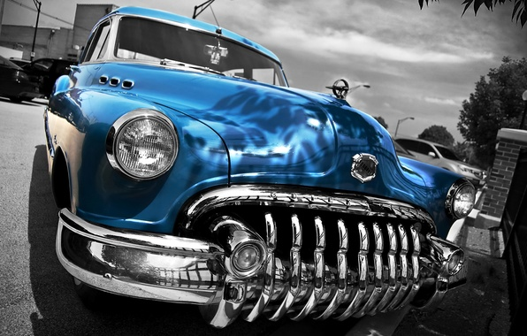 Picture retro, HDR, Buick, car, classic, the front, 1950, Buick