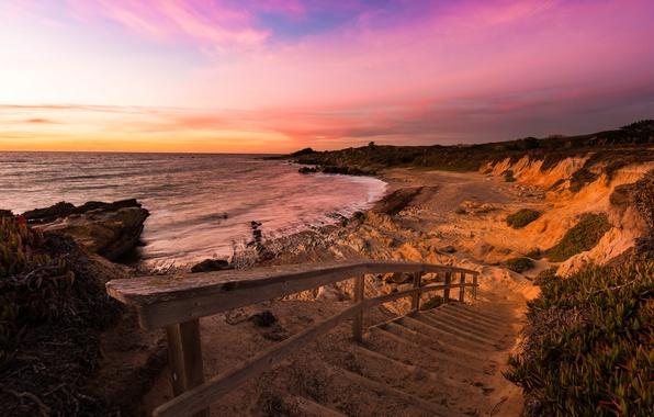 Picture sea, shore, Pescadero